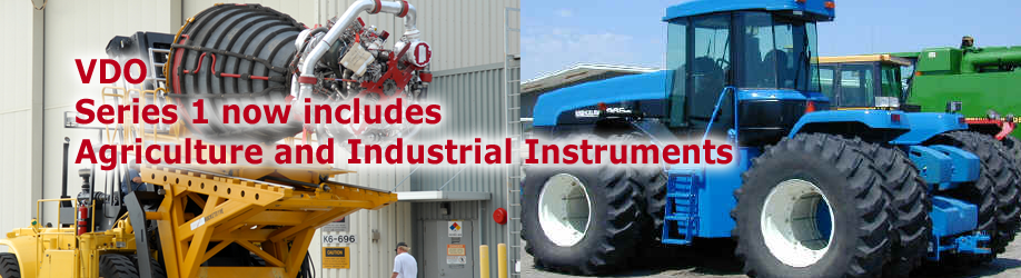 VDO adds Agricultural and Industrial gauges to the Series 1 line of instruments!