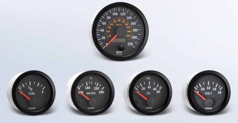 Vision Chrome VDO 332-193 Voltmeter 8-16V